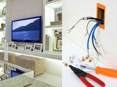 tv and projectorinstallation