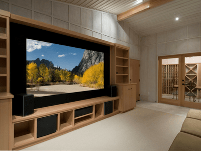 tv and projector        installation