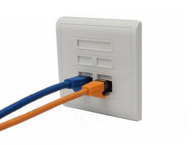 network wall port installation