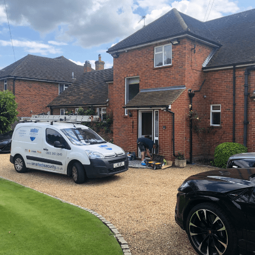Installation of Burglar Alarms, CCTV and Intercom in Yateley Clevehurst Close, Stoke Poges