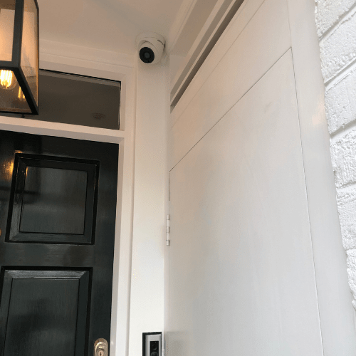 Installation of Burglar Alarms, CCTV and Intercom in Camberley Sheffield Terrace, London