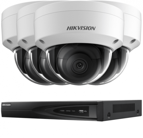 Fitted 4 Outdoor 4K Ultra-HD Hikvision IP Camera System