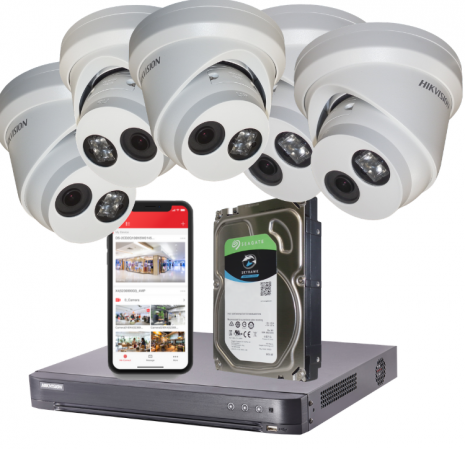 Fitted 4MP Hikvision Darkfighter 5 Camera CCTV System | Smartech