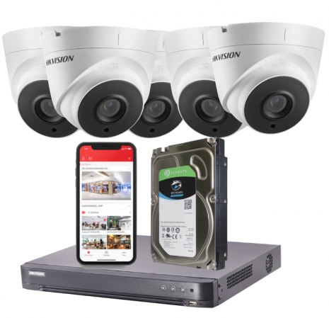 5 Camera 5MP HD CCTV System Fitted | Smartech Security