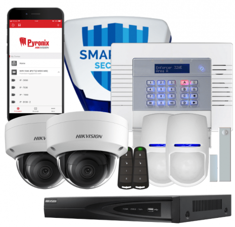 Fitted Pyronix Enforcer 10 & Hikvision 2 Camera IP CCTV System | Smartech