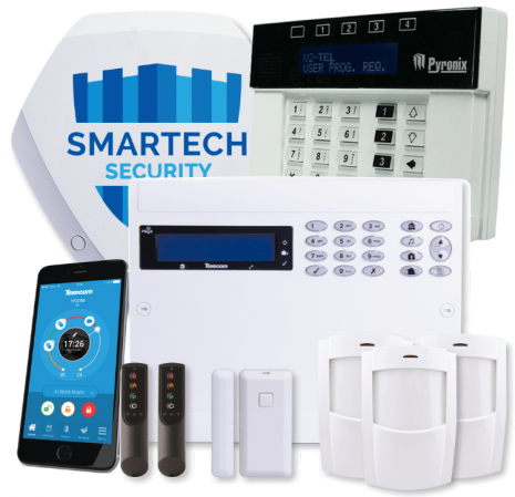Buy Texecom Premier Elite 64-W Wireless Intruder Alarm with V2 Telephone speech dialler Installed