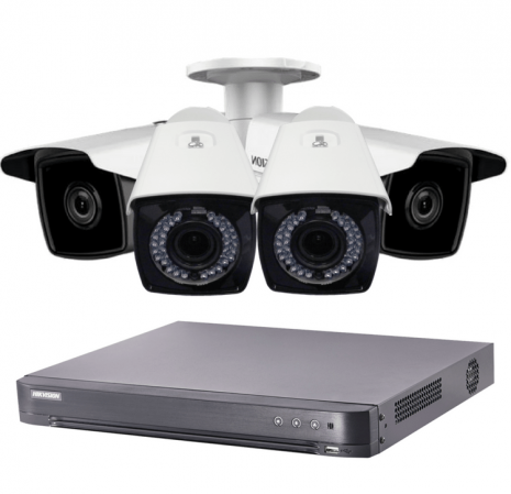 Smartech | 4 Bullet HD CCTV with App, DVR, 1 TB Hard Disk Fitted