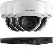 Fitted 4 Outdoor 5MP Hikvision HD IP Cameras CCTV System