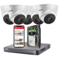 5 Hikvision 5MP HD Analogue CCTV Security Camera System with Installation