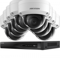Fitted 8 Outdoor 4K Ultra-HD Hikvision IP Camera System
