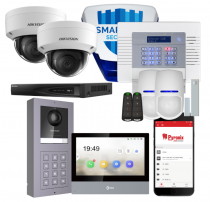 Burglar Alarm CCTV and Intercom Home Security System Package with Installation