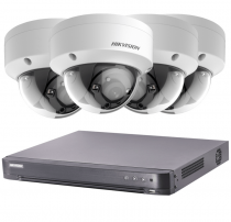 Fitted 4 Outdoor 2MP Hikvision CCTV System