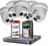 5 Hikvision 4MP IP Darkfighter Security Cameras With Installation