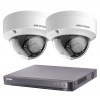 HD DVR With 2 Outdoor 2MP Dome Cameras, 20m Night Vision